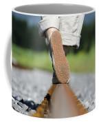 Walking On Railroad Tracks Coffee Mug