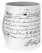 Washington: Farewell, 1796 Coffee Mug