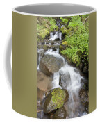 Water Cascading Over Rocks, Mount Hood Coffee Mug