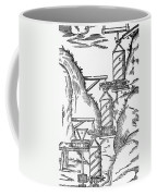 Watermill, Reversed Archimedean Screw Coffee Mug by Science Source