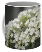 White Hydrangea Bloom Coffee Mug