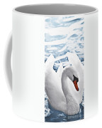White Swan On Water Coffee Mug