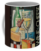 White Wine And Cheese Poster Coffee Mug