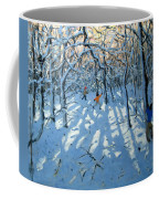 Winter Woodland Near Newhaven Derbyshire Coffee Mug
