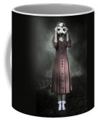 Woman And Teddy Coffee Mug