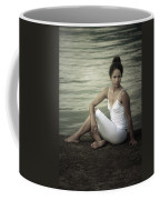 Woman At A Lake Coffee Mug
