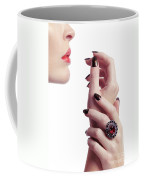 Woman Hands And Lips Coffee Mug