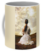 Woman On A Meadow Coffee Mug