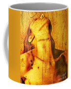 Woman With Words And Numbers Coffee Mug