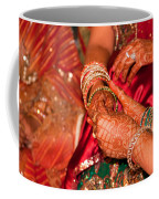 Women With Decorated Hands Holding Hands In A Hindu Religious Ceremony Coffee Mug