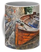 Wood Boat Coffee Mug