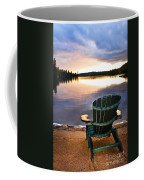 Wooden Chair At Sunset On Beach Coffee Mug by Elena Elisseeva