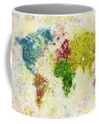 World Map Painting Coffee Mug by Setsiri Silapasuwanchai