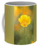 Yellow Poppy Flower, Mount Hood Coffee Mug