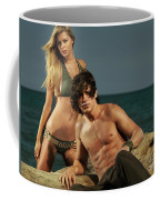 Young Beautiful Couple At The Beach Coffee Mug