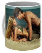Young Couple On The Beach Coffee Mug