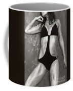 Young Woman With Rope Bondage Standing At A Window Coffee Mug