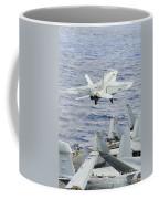 An Fa-18e Super Hornet Launches Coffee Mug