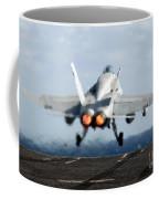An Fa-18c Hornet Launches Coffee Mug