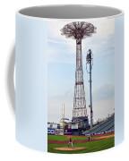 13 Year Old Pitching At Coney Island Cyclones Stadium Coffee Mug
