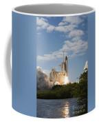 Space Shuttle Atlantis Lifts Coffee Mug