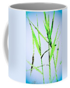 Water Reed Digital Art Coffee Mug
