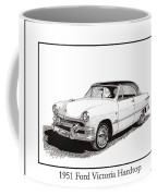 1951 Ford Victoria Hardtop Coffee Mug