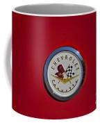 1957 Red Corvette Emblem Coffee Mug