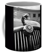 1963 Jaguar Front Grill In Balck And White Coffee Mug