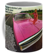 1970 Dodge Charger Tickled Pink Coffee Mug
