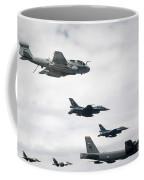 A B-52 Stratofortress Leads A Formation Coffee Mug
