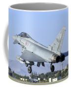 A Eurofighter F-2000 Of The Italian Air Coffee Mug