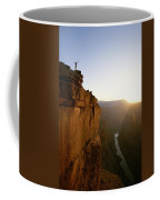A Hiker Surveys The Grand Canyon Coffee Mug by John Burcham