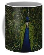 A Male Peacock Displays His Beautiful Coffee Mug