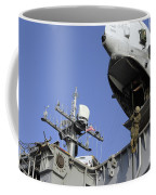 A Soldier Fast-ropes From The Rear Coffee Mug