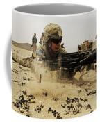 A Soldier Firing His Mk-48 Machine Gun Coffee Mug