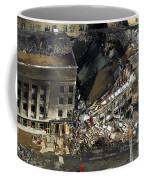 Aerial View Of The Terrorist Attack Coffee Mug by Stocktrek Images