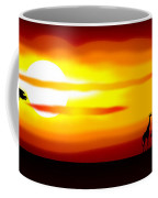 Africa Sunset Coffee Mug by Michal Boubin