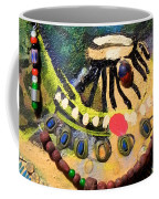 African Bead Painting  Coffee Mug