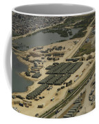 An Aerial View Of The White Beach Coffee Mug