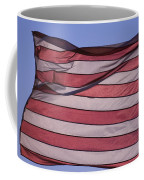 An American Flag At Sunrise Coffee Mug