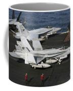 An Fa-18c Hornet During Flight Coffee Mug