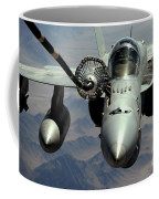 An Fa-18c Hornet Receives Fuel Coffee Mug