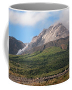 Ash And Gas Rising From Lava Dome Coffee Mug