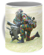 Belgian Soldiers Setting Up The Milan Coffee Mug by Luc De Jaeger