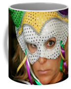 Blond Woman With Mask Coffee Mug by Henrik Lehnerer