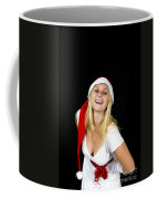 Blonde Woman With Santa Hat Coffee Mug