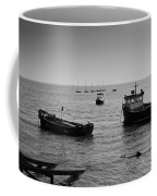 Boats Moored Off Of Leigh Essex Coffee Mug
