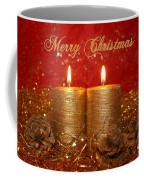 2 Candles Christmas Card Coffee Mug