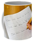 Dyslexia Testing Coffee Mug by Photo Researchers, Inc.